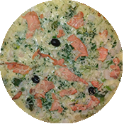 Pizza Océane de la pizzéria La Tour de Pizz à Bourg les Valence